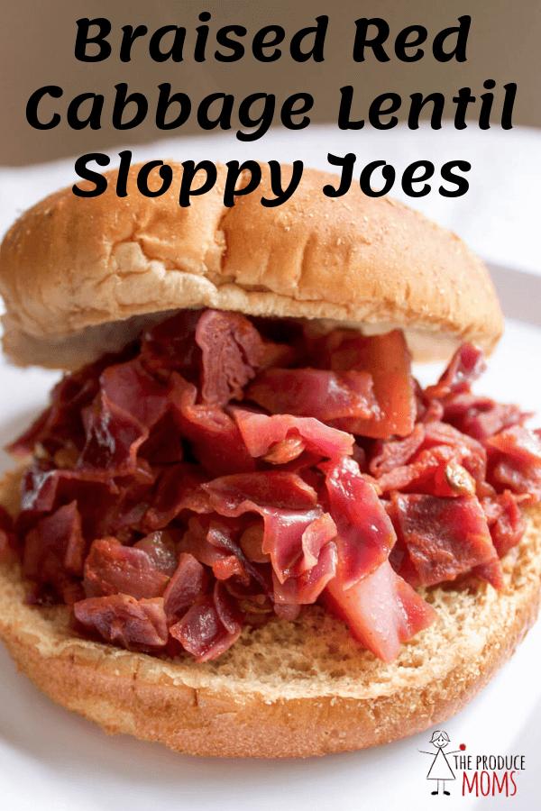 Braised Red Cabbage Lentil Sloppy Joes | Vegetarian Sloppy Joes Recipe