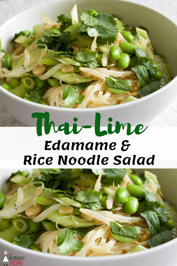 Thai-Lime Edamame & Rice Noodle Salad