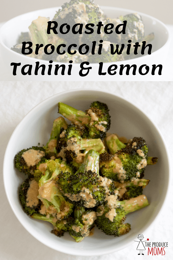 Roasted Broccoli with Tahini & Lemon