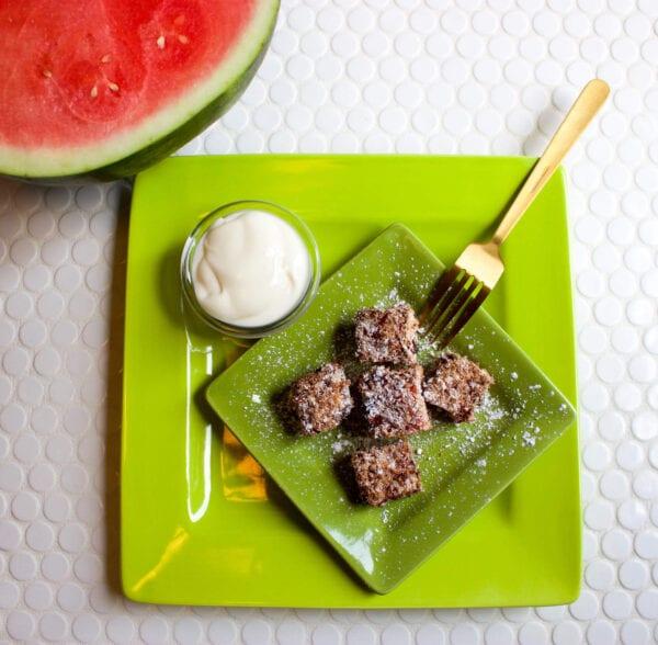 Air-Fried Watermelon Bites