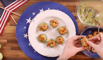 Avocado, Shrimp, and Cucumber Bites
