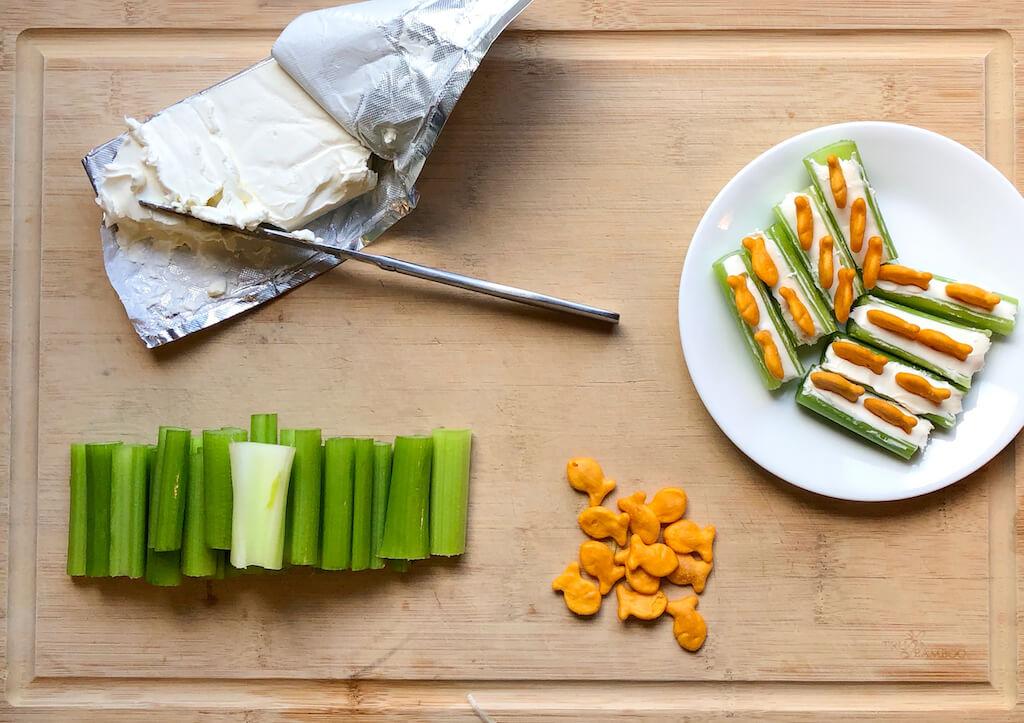 Gone Fishin' Celery Snack