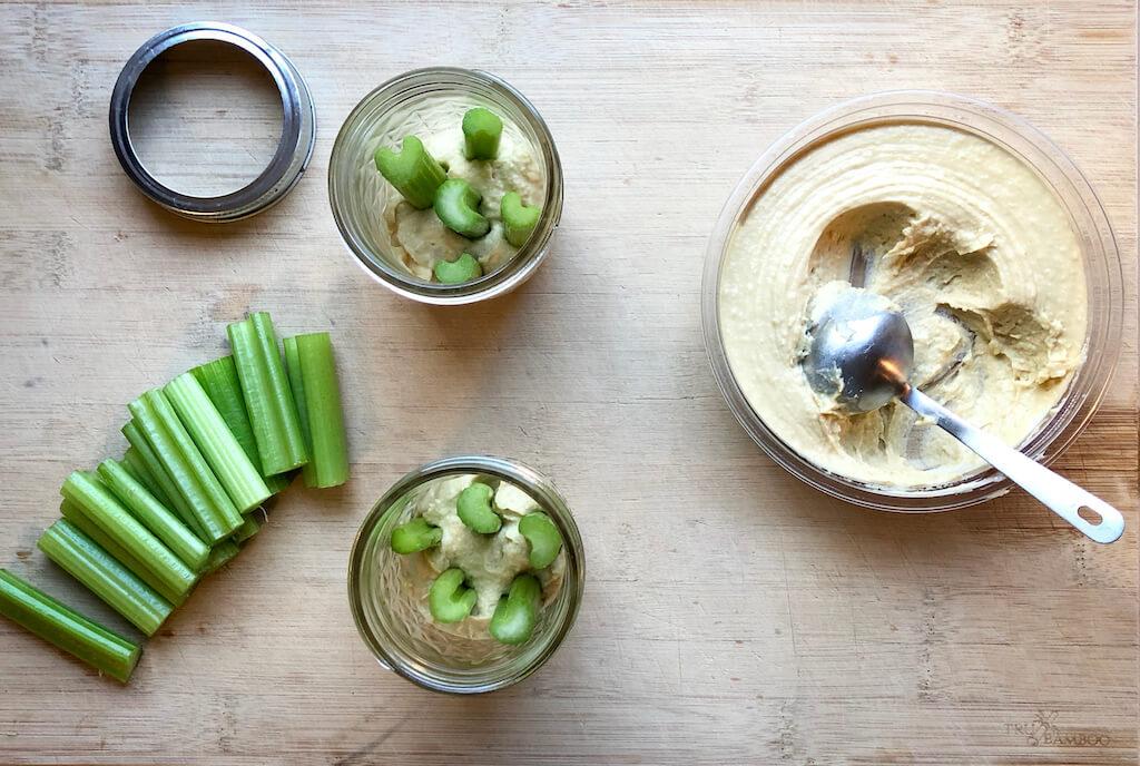 Celery Sticks & Hummus Jars