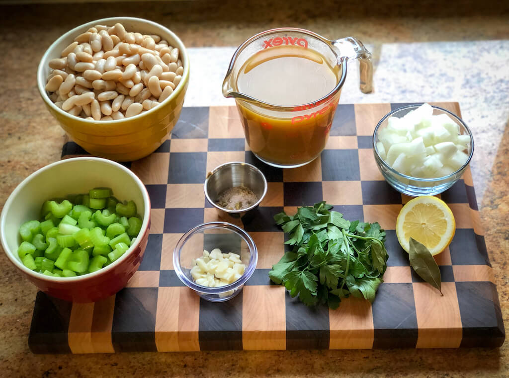 Crockpot Celery Bean Soup - ingredients