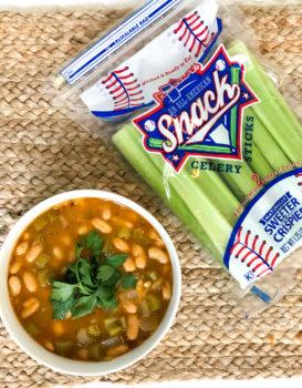 Crockpot Celery Bean Soup