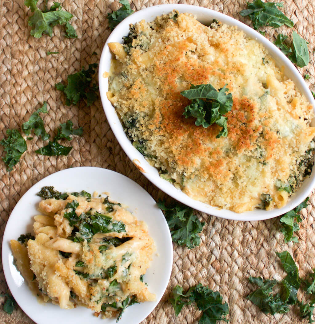 Cheesy Kale and Penne Bake