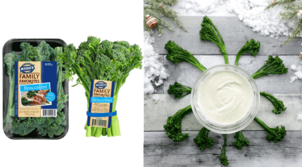 Chilled Broccolini with Lemon Pepper Dip