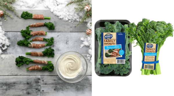 Prosciutto-Wrapped Broccolini with Honey Mustard Dipping Sauce
