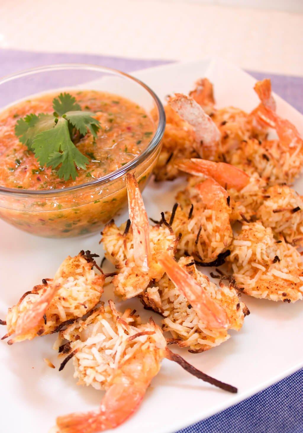 Coconut Shrimp with Minneola Salsa