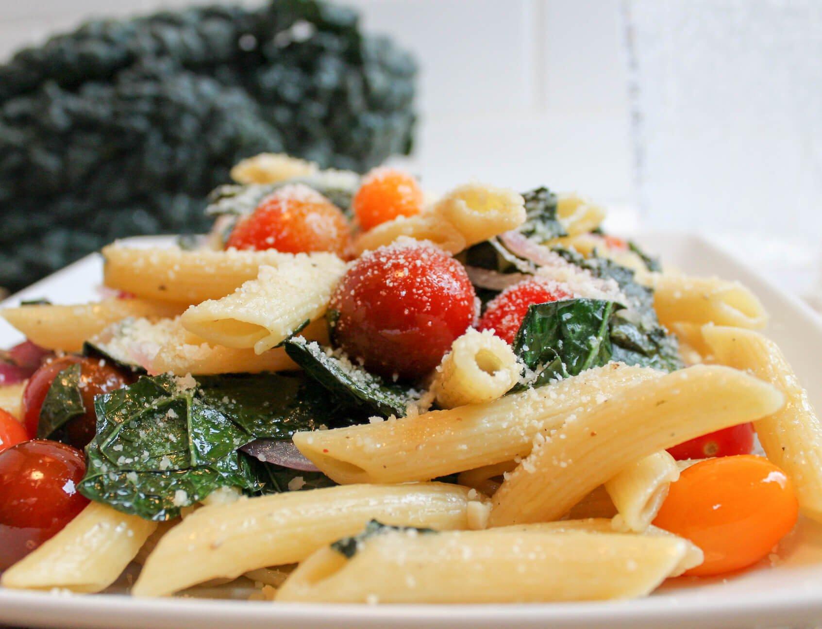 Lacinato Kale & Tomato Medley Pasta
