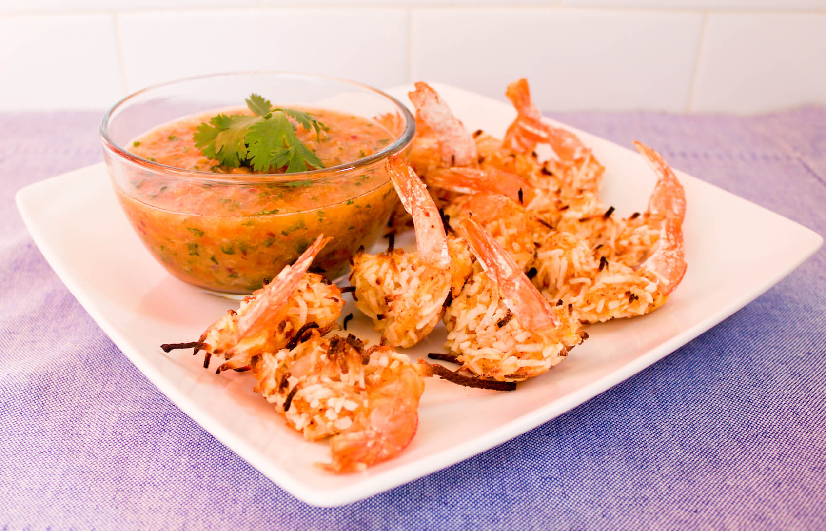 Coconut Shrimp with Minneola Salsa