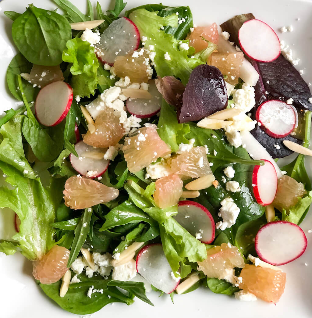 Pummelo, Jicama, and Radish Salad with Pummelo Dressing