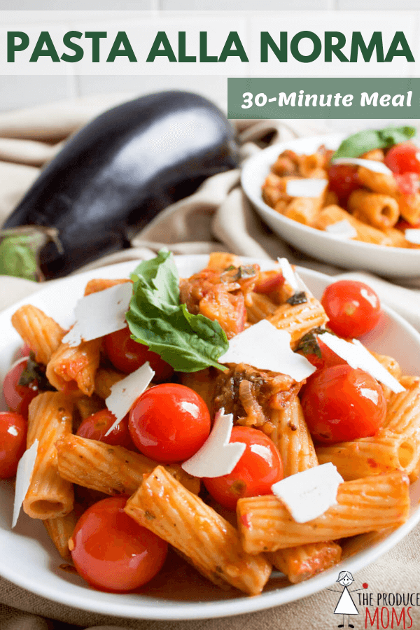 Pasta Alla Norma | 30 Minute Italian Meal | Vegetarian and Kid-Friendly
