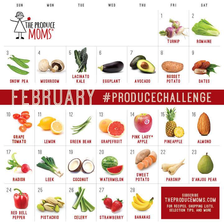 February 2019 Produce Challenge Calendar