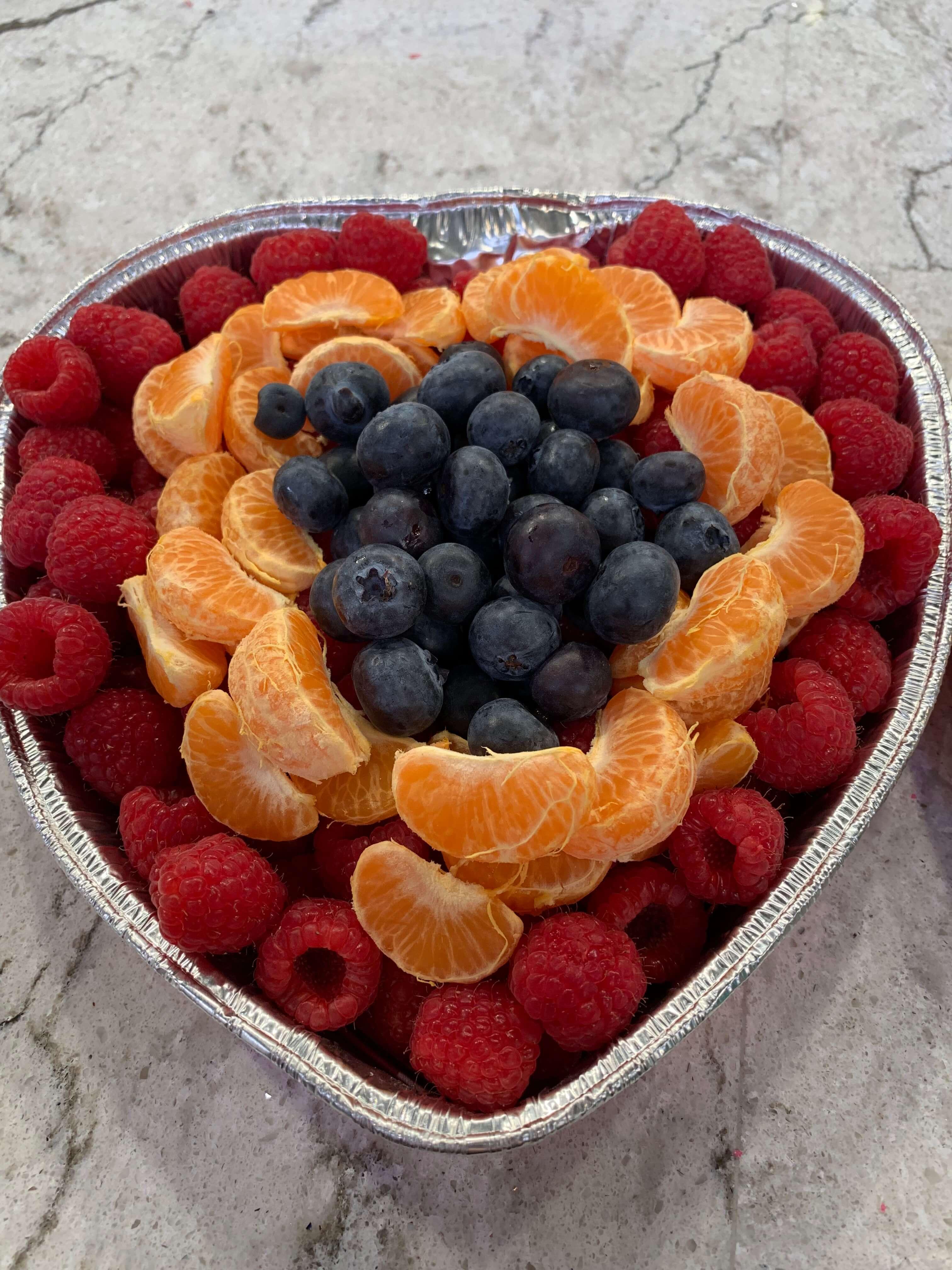 Heart-Shaped Fruit Tray