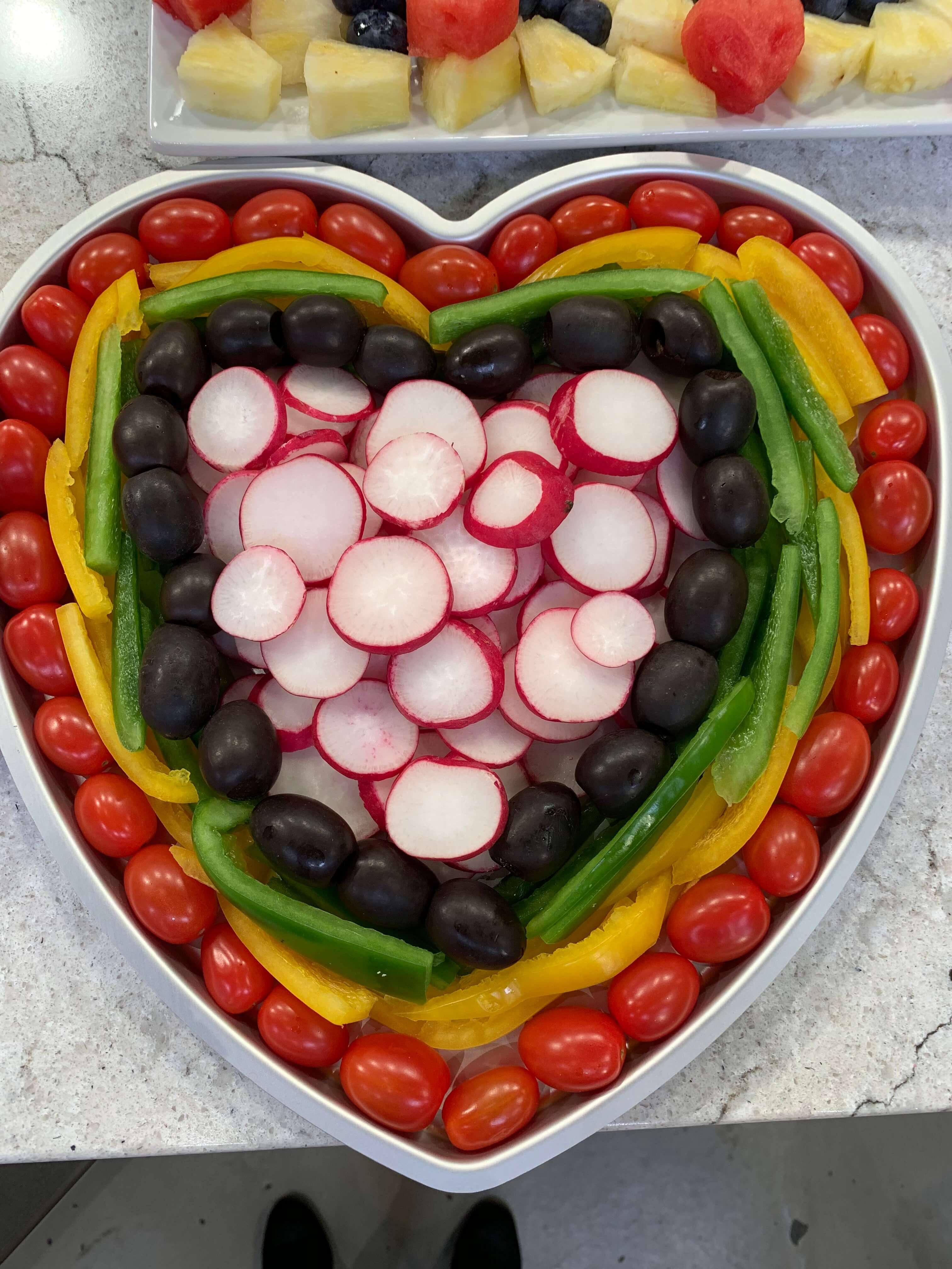 Heart-Shaped Veggie Tray