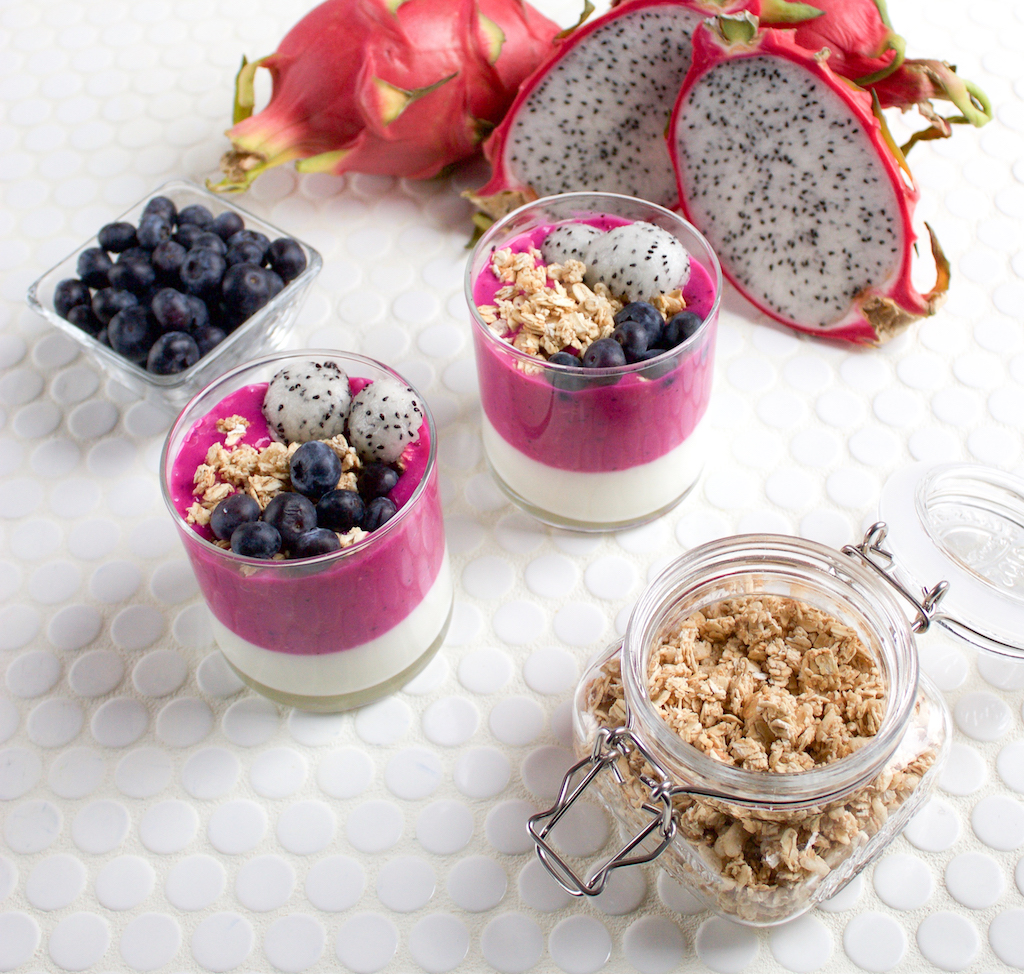 Dragon Fruit Yogurt Parfait