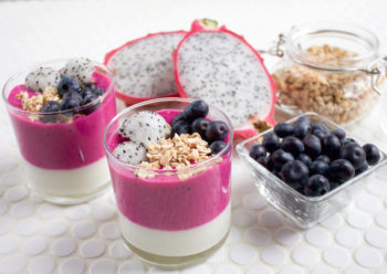 Dragon Fruit Yogurt Parfait