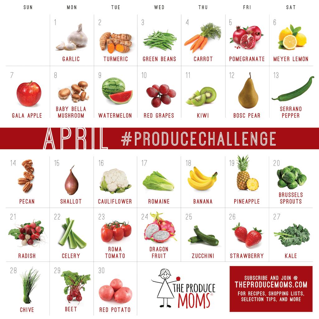 April 2019 Produce Challenge Calendar