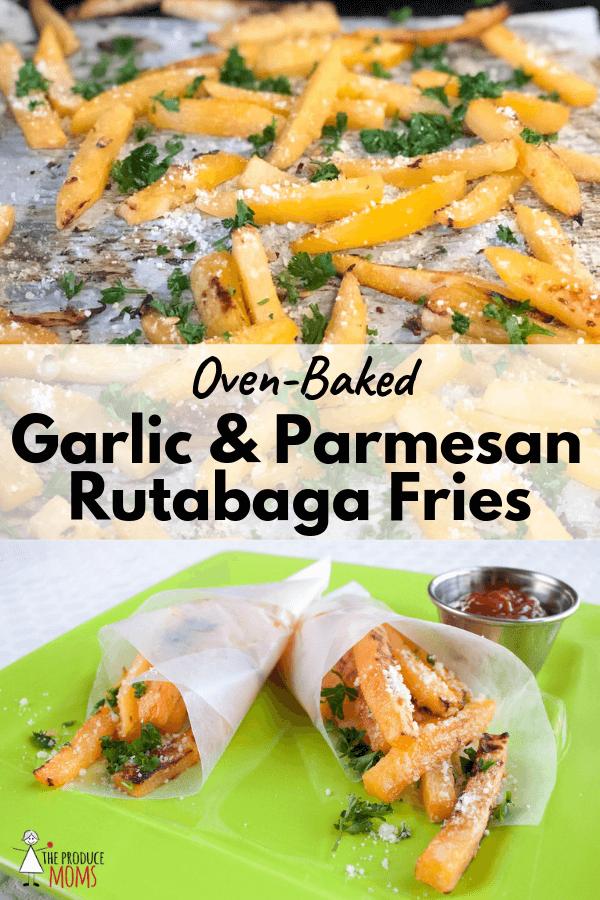Oven-Baked Garlic and Parmesan Rutabaga Fries
