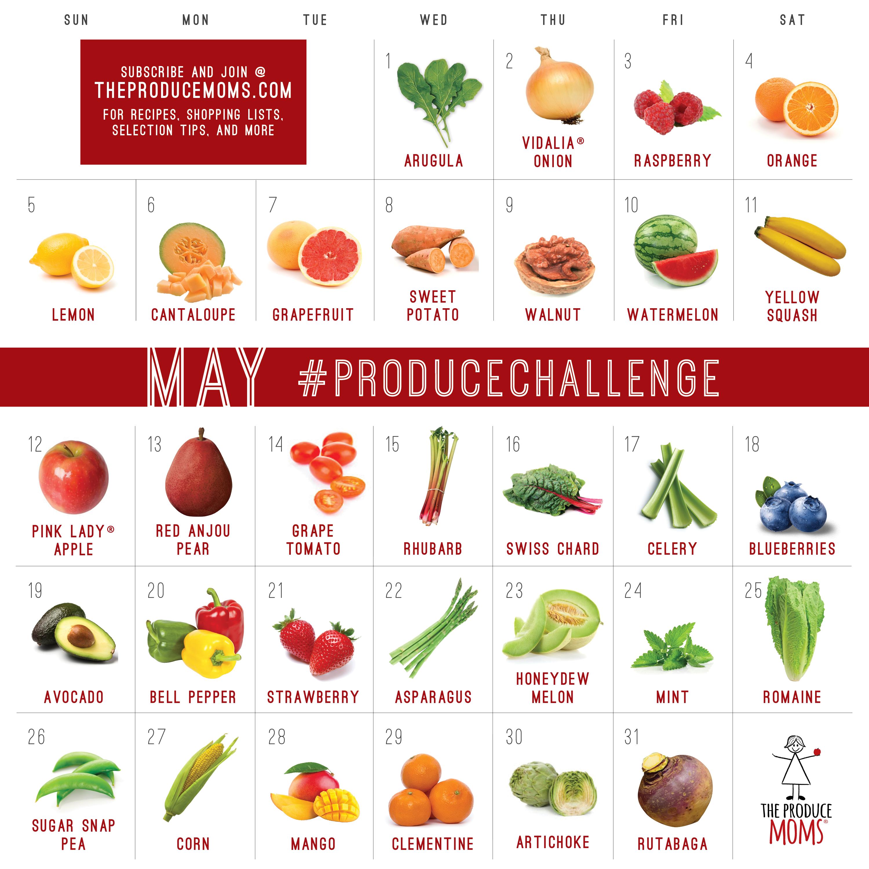 May 2019 Produce Challenge Calendar