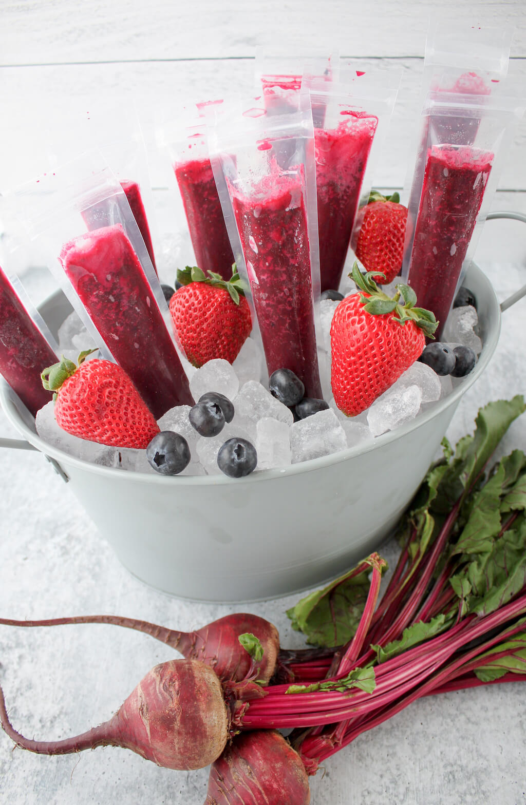Berry and Beet Ice Pops