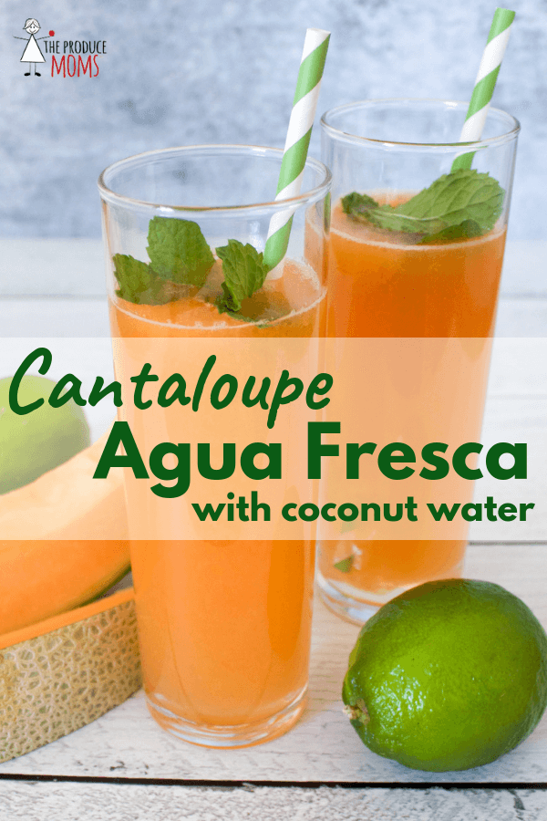 Cantaloupe Agua Fresca with Coconut Water