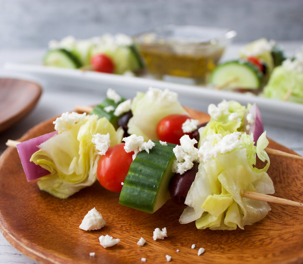 Greek Salad Kabobs