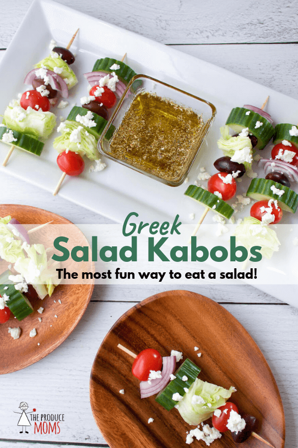 Greek Salad Kabobs - kid-friendly | vegetarian | gluten-free