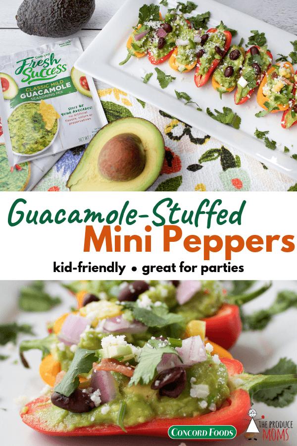 Guacamole-Stuffed Mini Peppers