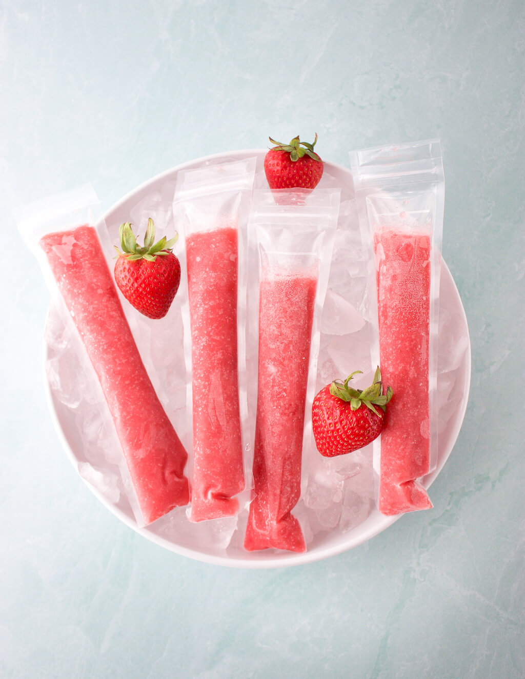 Strawberry Daiquiri Ice Pops
