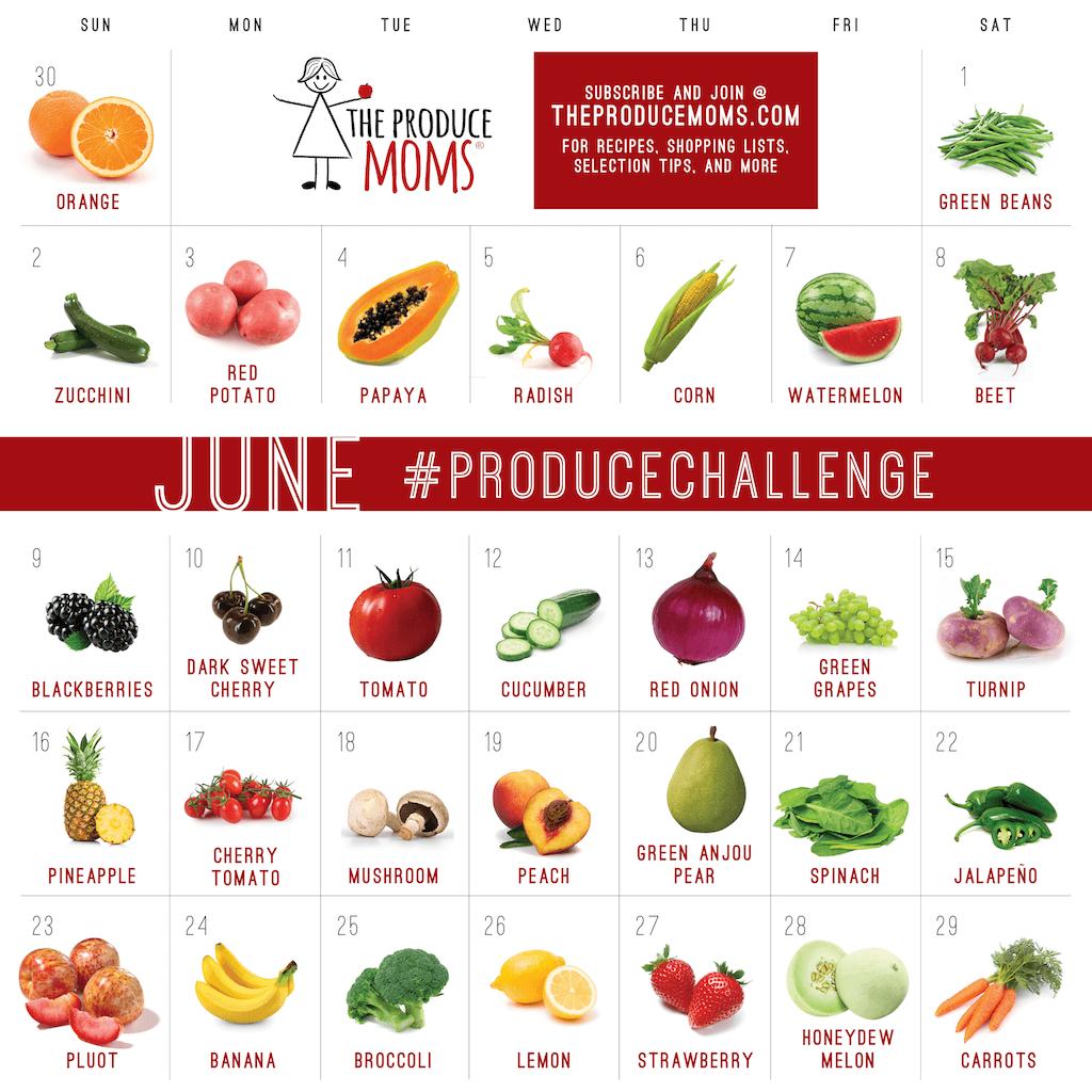 June 2019 Produce Challenge Calendar