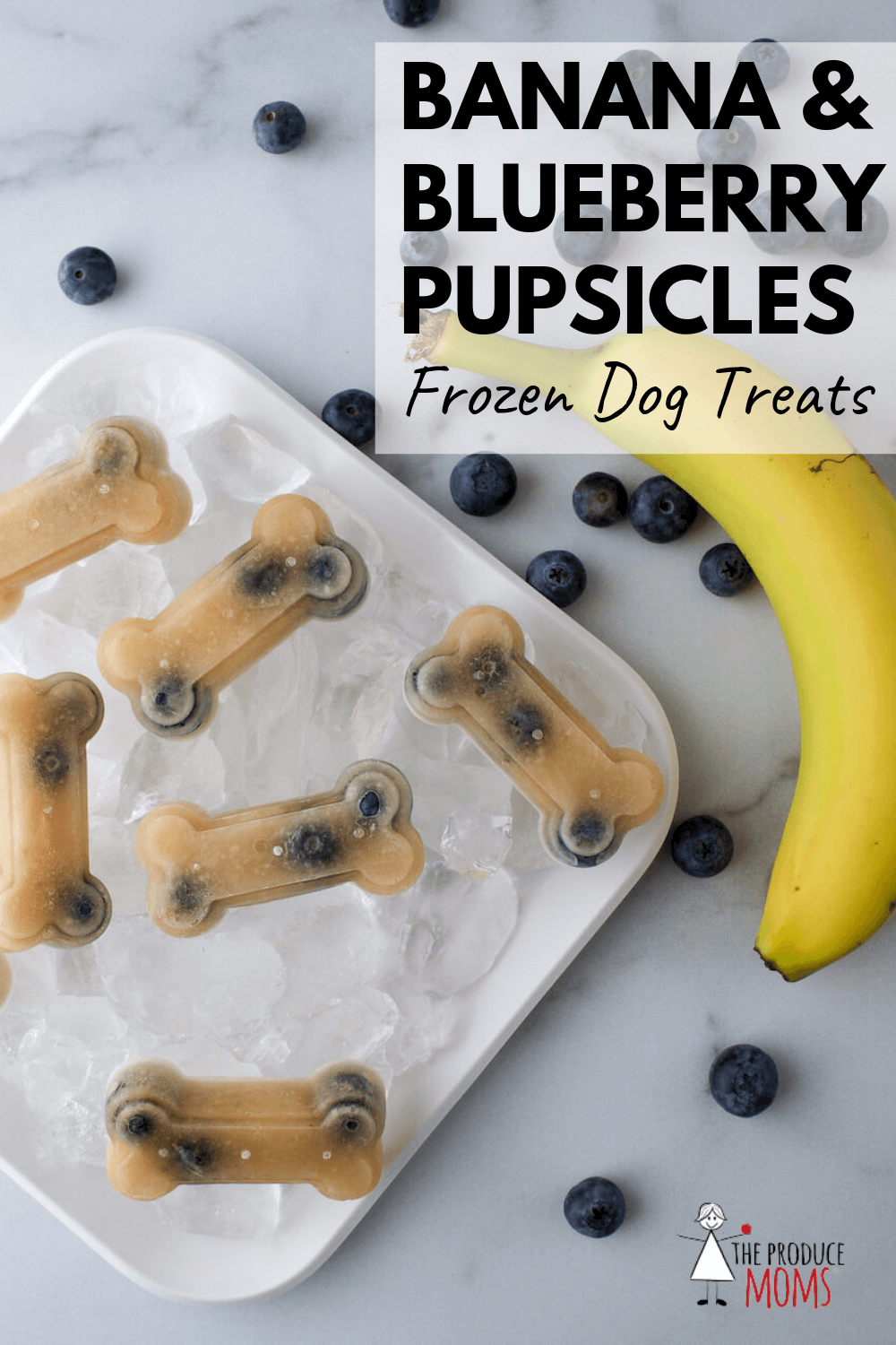Banana and Blueberry Pupsicles