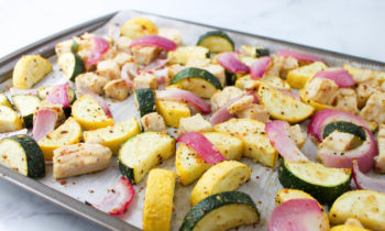Lemon Pepper Chicken & Summer Squash Sheet Pan