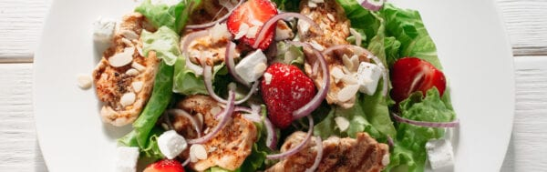 Grilled Chicken and Strawberry Salad