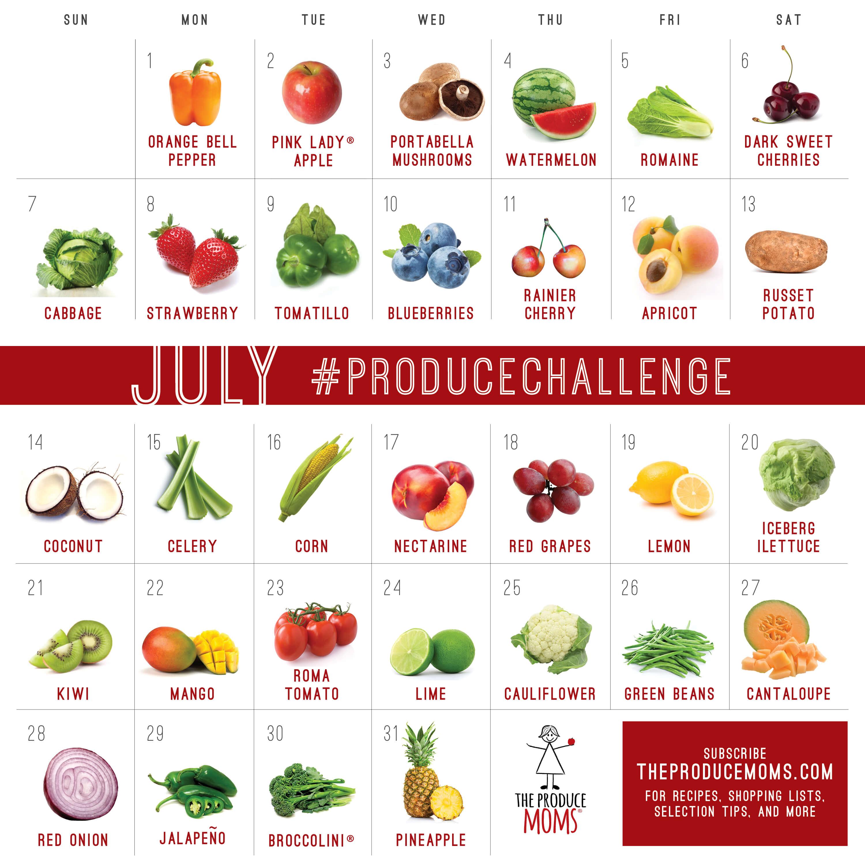 July 2019 Challenge Calendar