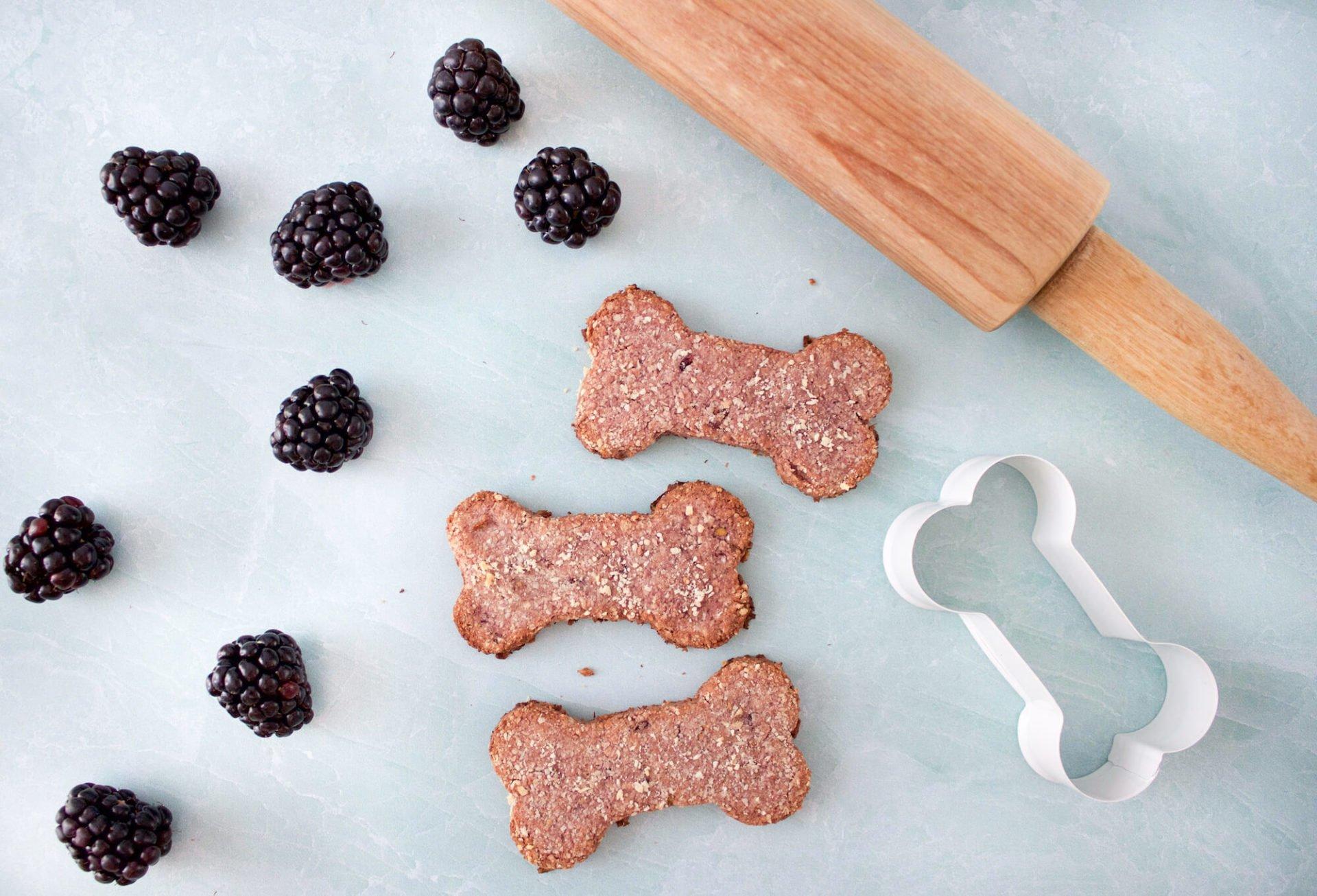 Gluten-Free Blackberry & Almond Flour Dog Treats