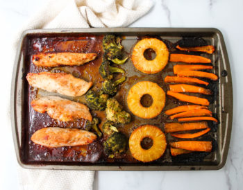 Easy Pineapple Teriyaki Chicken Sheet Pan