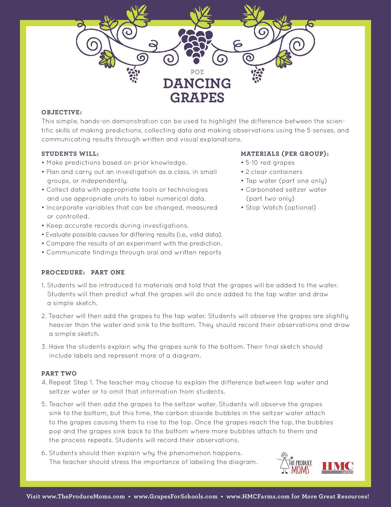 STEM: Dancing Grapes