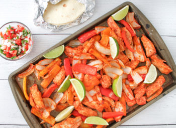 Sheet Pan Smoky Lime Chicken Fajitas