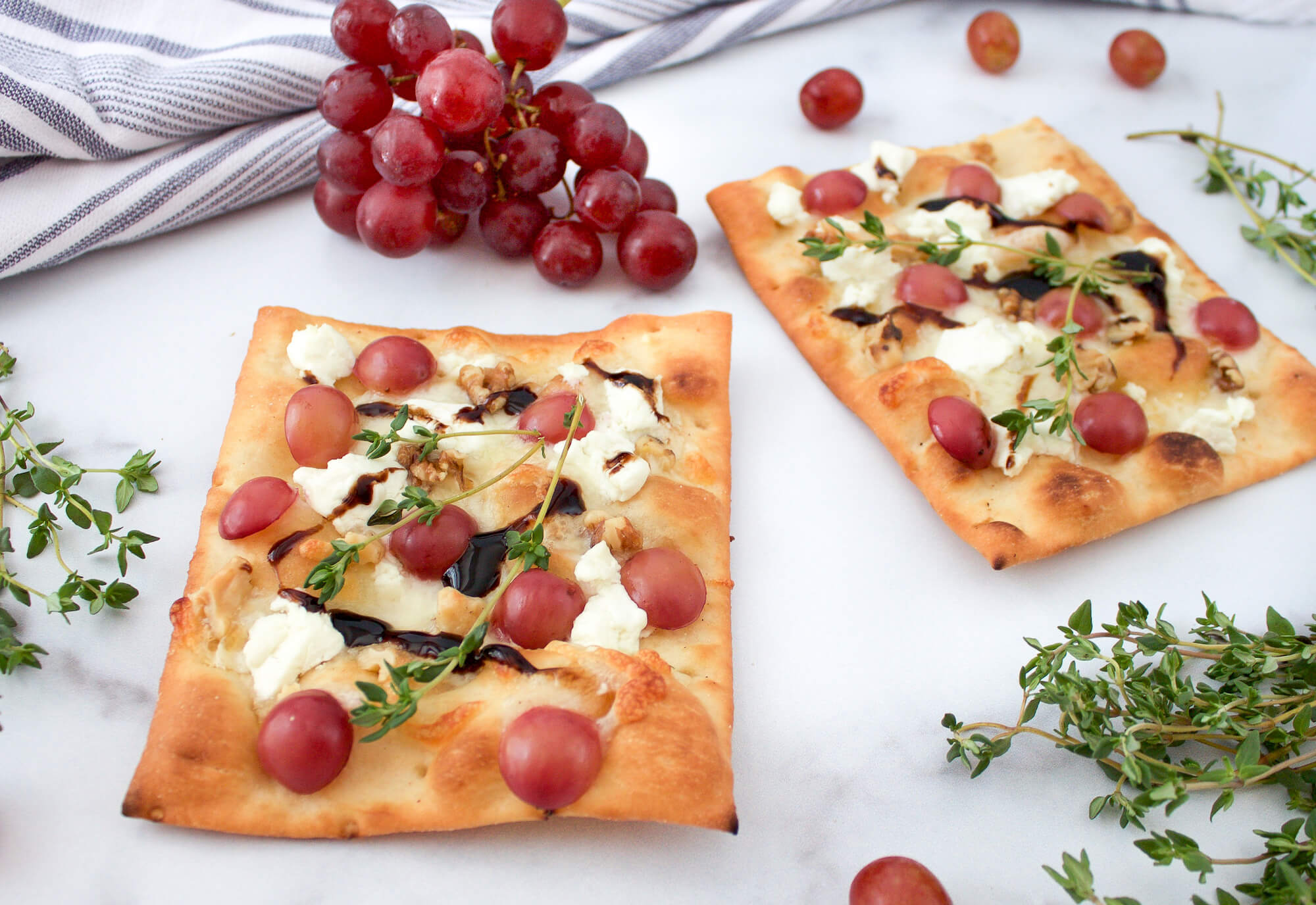 Grape Flatbread Pizza