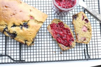 Naturipe® Avocado Strawberry Blueberry Bread with Triple Berry Jam