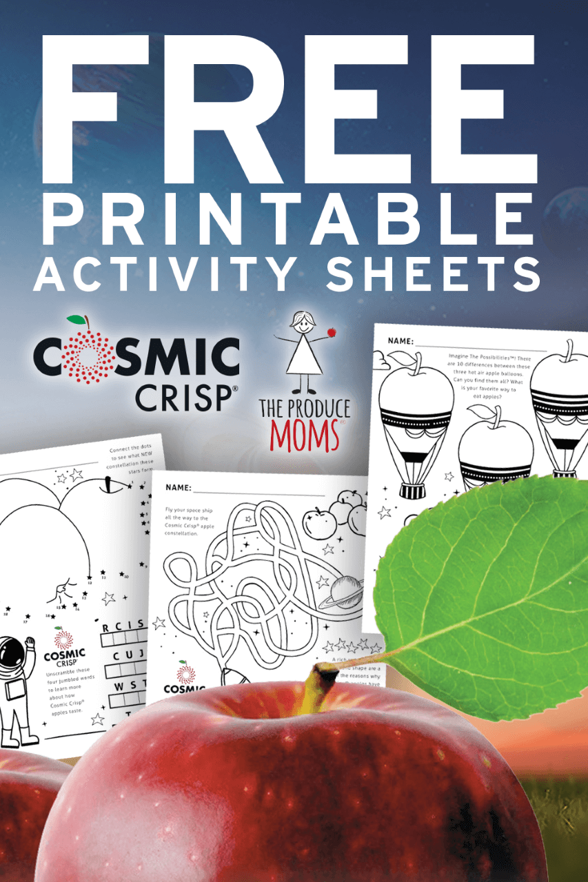 Cosmic Crisp Activity Sheets