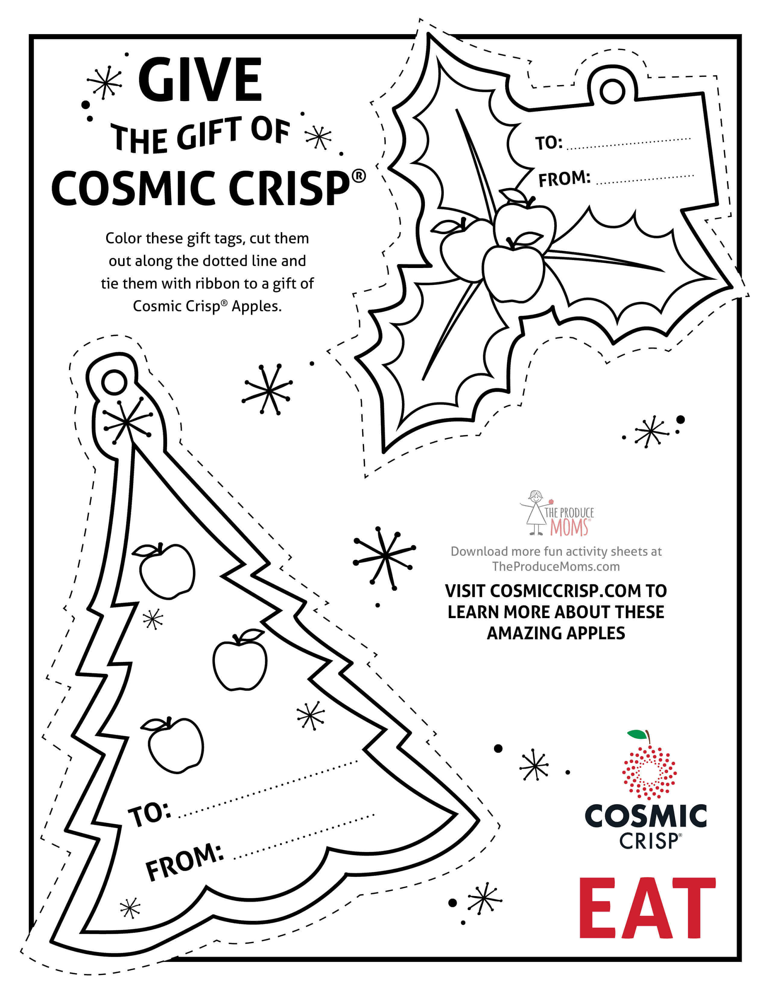 Give The Gift Of Cosmic Crisp® + Printable Holiday Gift Tags
