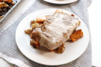 Pork Sheet Pan with Sweet Potato and Apple