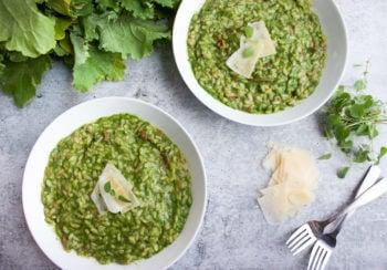 Porcini Mushroom and Broccoli Rabe Risotto