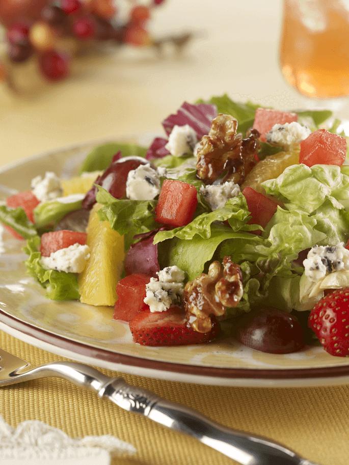Watermelon Recipes For The Holidays: Blue Watermelon Walnut Salad
