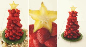 Edible Strawberry Christmas Tree