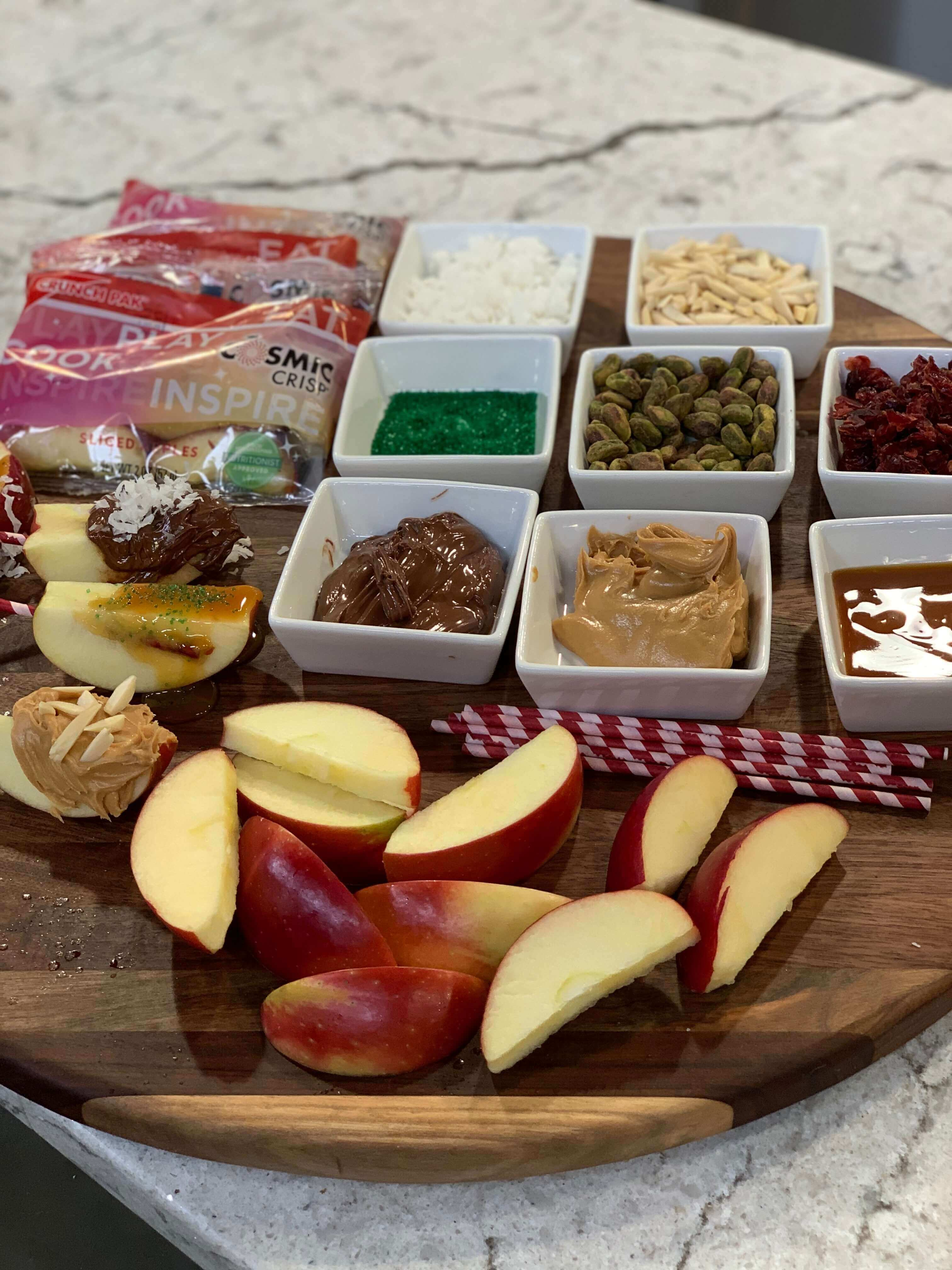 Holiday Recipes: Cosmic Crisp® Apple Almond Bites + Build Your Own Cosmic Crisp® Entertaining Bar