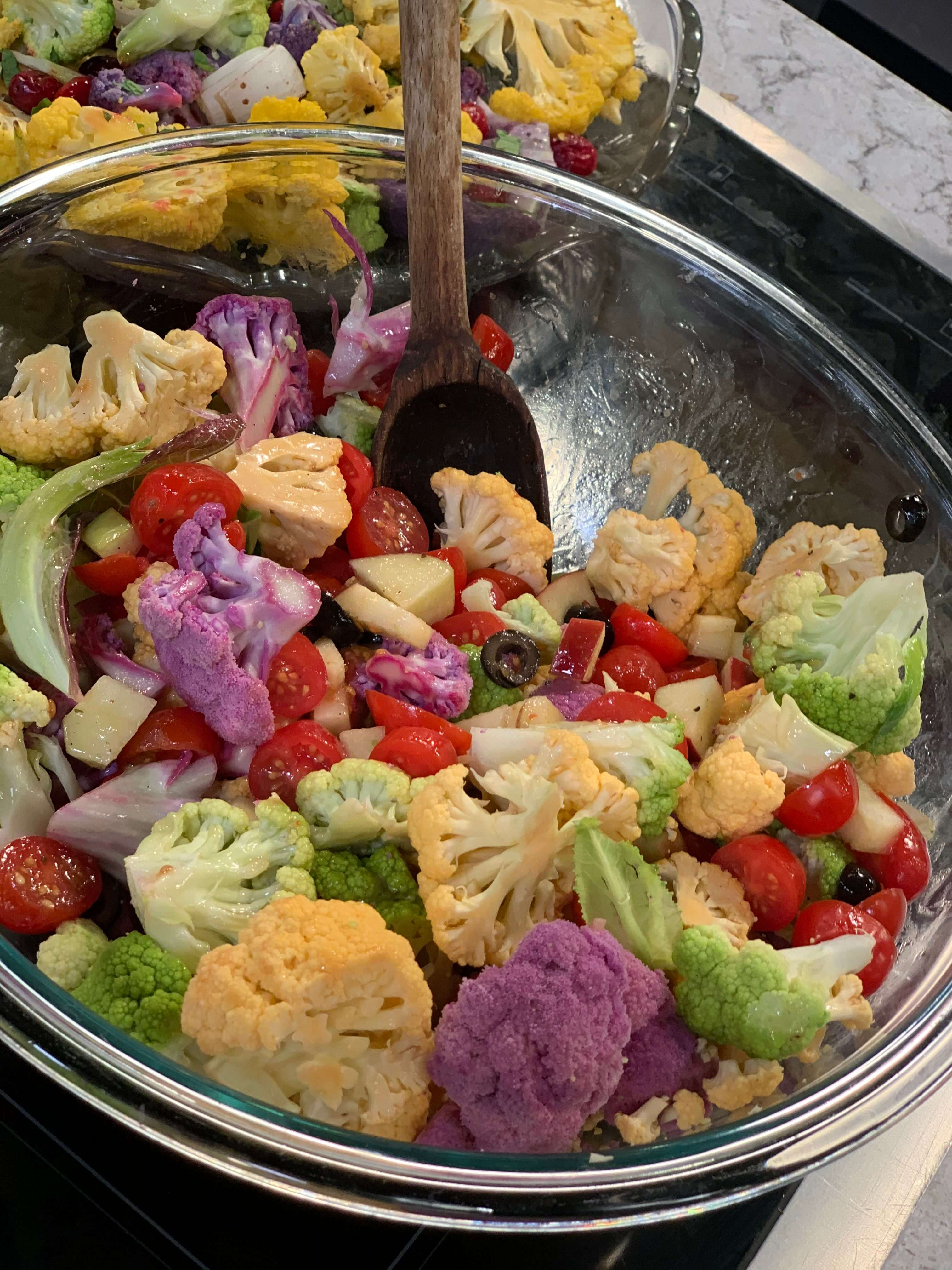 Holiday Recipes: Rainbow Cauliflower Salad